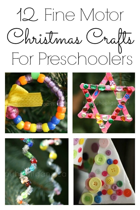 12 Fine Motor Christmas Crafts for Preschoolers