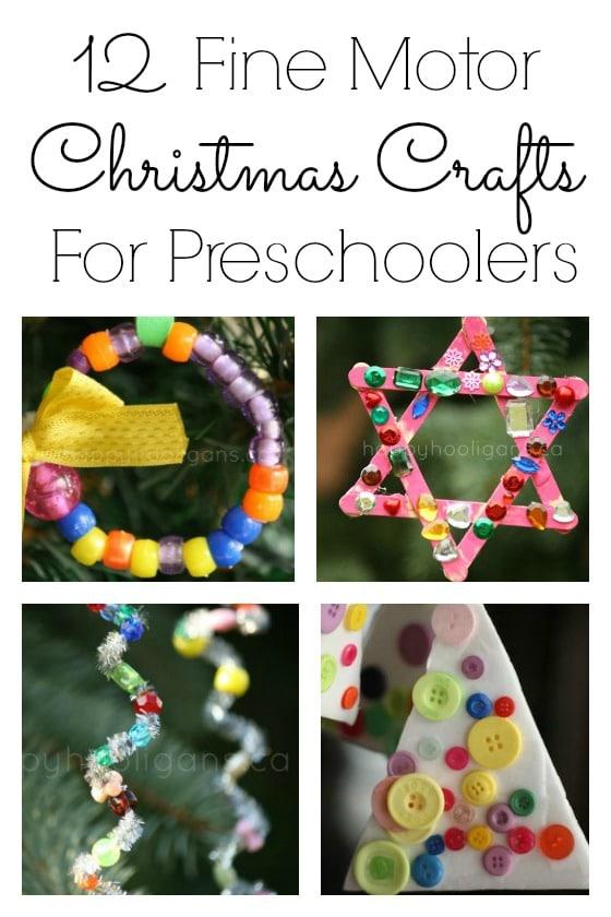 12 Fine Motor Christmas Crafts for Preschoolers