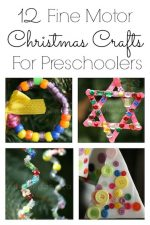 12 Fine Motor Christmas Ornaments for Toddlers and Preschoolers