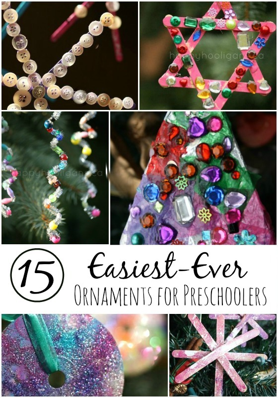 15 Easy Gorgeous Christmas Ornaments for Kids  Happy Hooligans - Christmas Tree Decorations To Make At Home