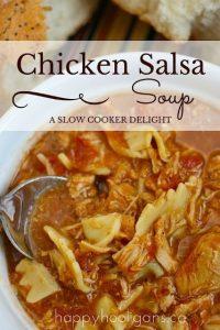 Slow Cooker Chicken Salsa Soup