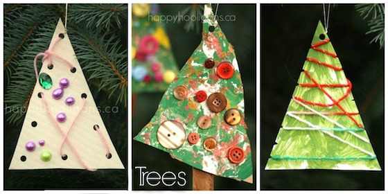 Easy Tree Ornaments for Toddlers and Preschoolers