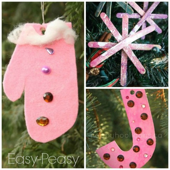 easy homemade christmas ornaments for toddlers to make - Kids Christmas Ornaments