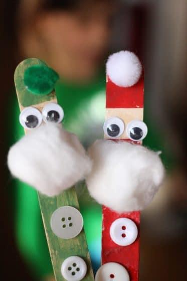 elf and santa ornaments