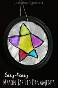 Mason Jar Lid Ornaments feature photo