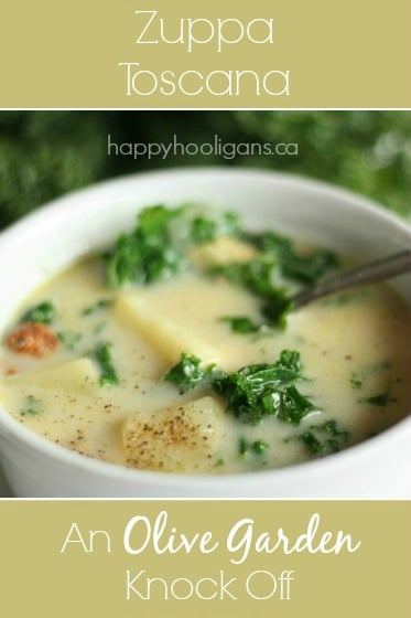 Zuppa Toscana Kale Sausage And Potato Soup Happy Hooligans