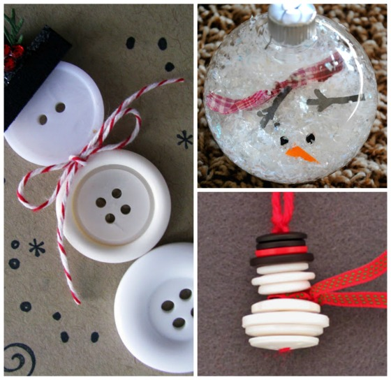 Dig out the button collection and make a set of snowman Christmas ...