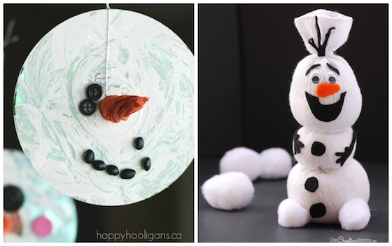 cd snowman and sock olaf