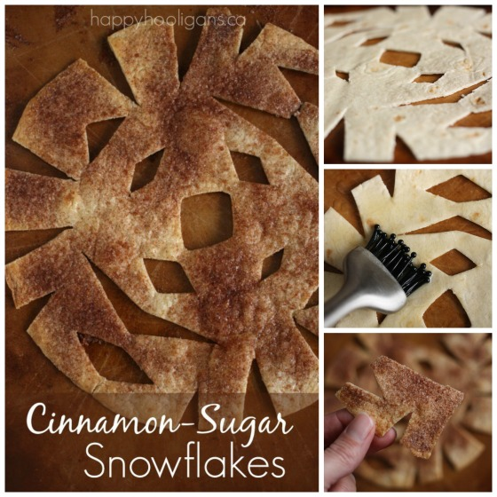 cinnamon sugar snowflakes