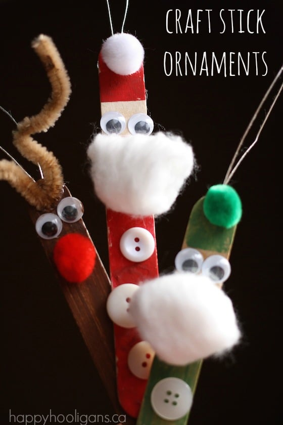 craft sticks santa craft craft stick santa and reindeer happy hooligans 4063