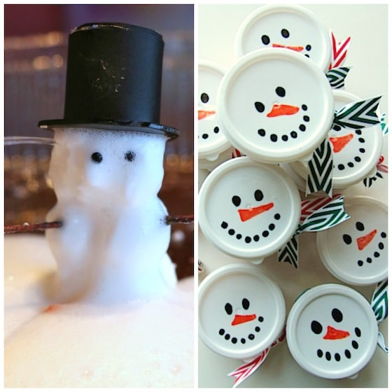 Kids will love this magic foaming dough snowman experiment. Check it ...
