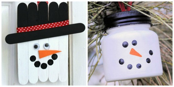 hanging snowman ornaments