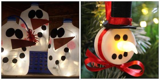 lighted snowman crafts
