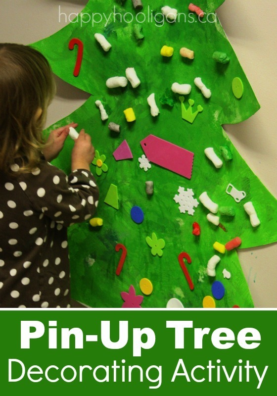 pin-up Christmas Tree activity