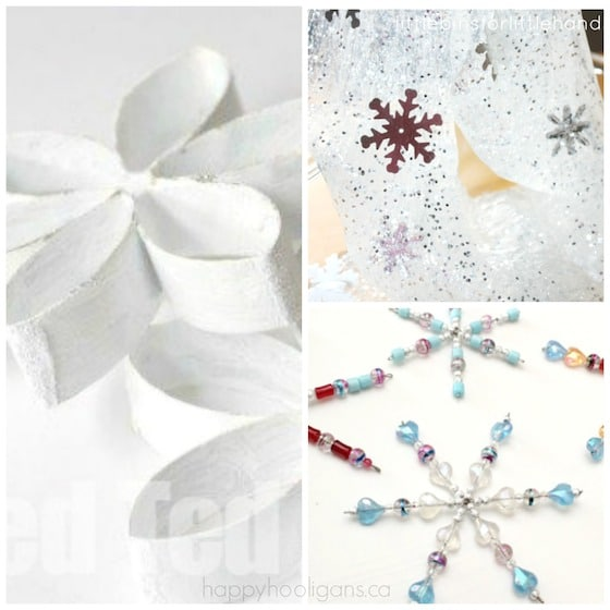 snowflake crafts and sensory activity