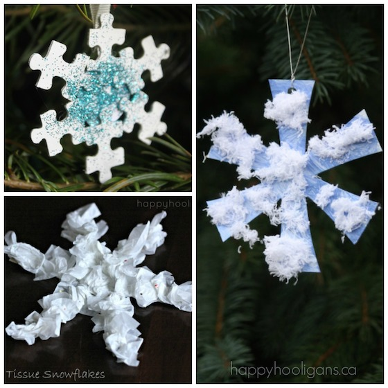 snowflake ornaments for kids to make
