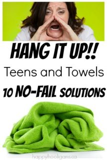 10 No-Fail Ways to Get a Teen to Hang Up a Wet Towel