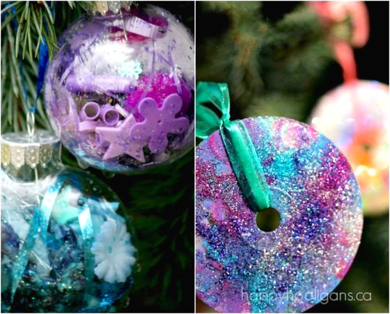 2 easy crafts for young kids - Kids Christmas Ornaments