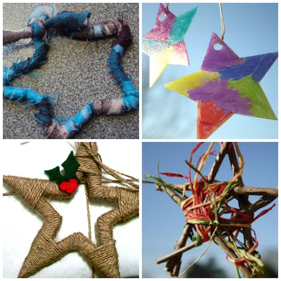 easy star ornaments for kids to make