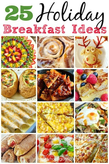 25 {delicious} Holiday Breakfast Ideas