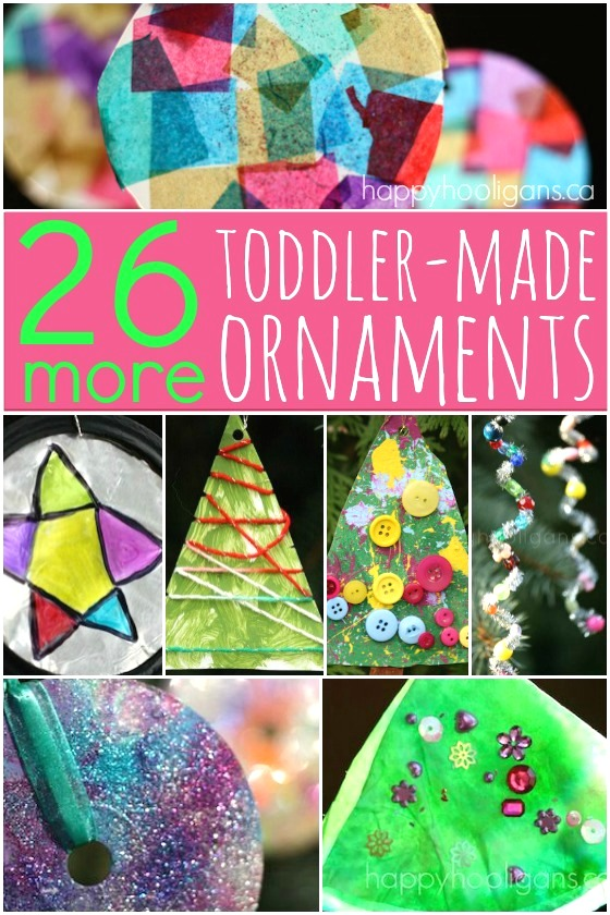 26 More Easy Christmas Ornaments for toddlers and preschoolers - Happy Hooligans