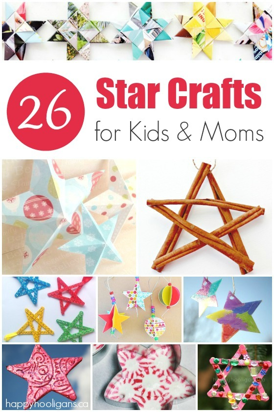 26 Star Ornaments for kids and moms to make