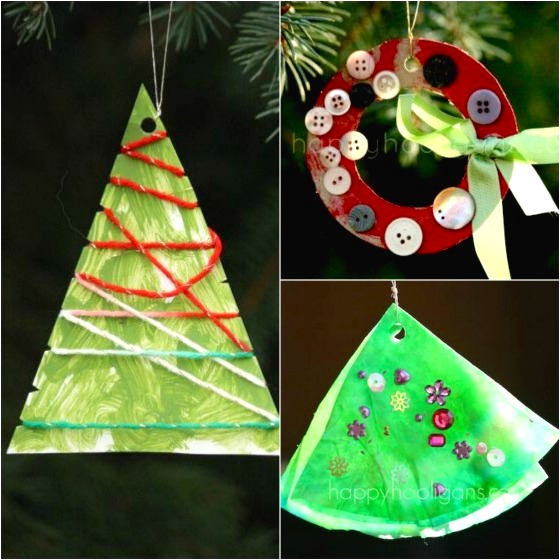3 easy christmas ornaments for toddlers to make