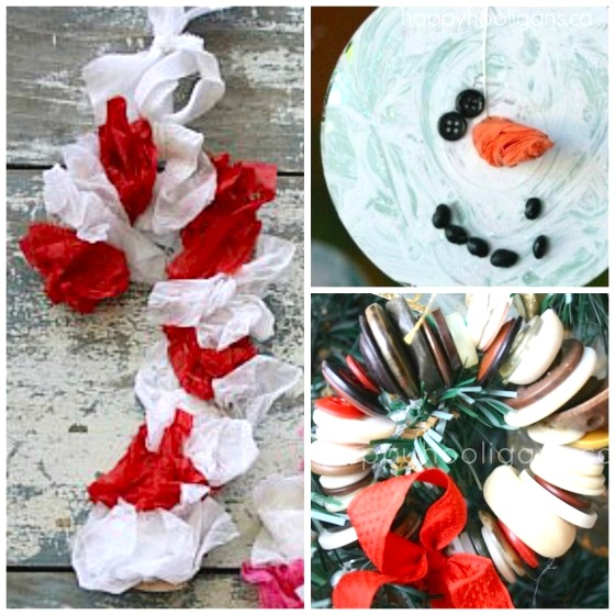 3 easy preschool Christmas crafts