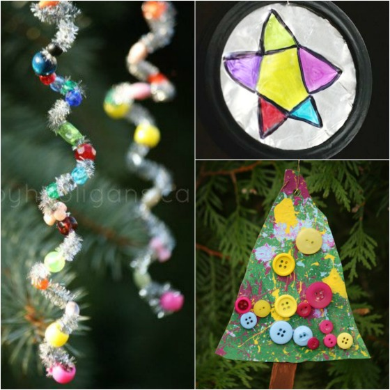 3 simple Christmas ornaments for toddlers and preschoolers to make