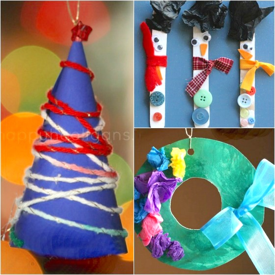 3 simple homemade Christmas ornaments for kids