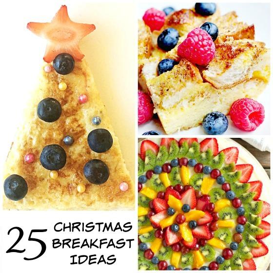 Christmas tree french toast - fruit platter - overnight breakfast cassarole Christmas Breakfasts