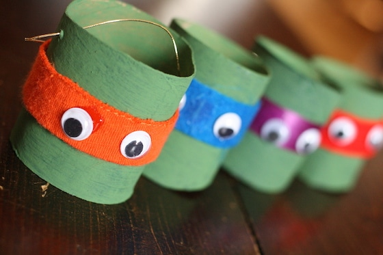 easy teenage mutant ninja title ornaments with toilet rolls