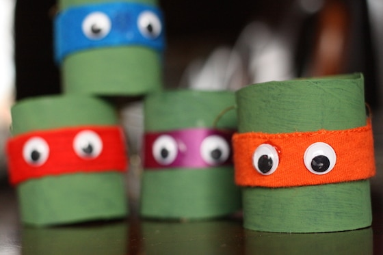 Toilet Roll Teenage Mutant Ninja Turtle Ornaments