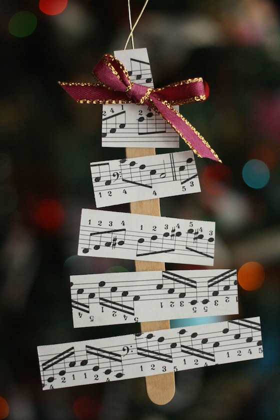 sheet music christmas tree decorations