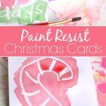 Paint Resist Christmas Cards
