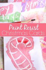Wax Resist Christmas Cards for Kids to Make