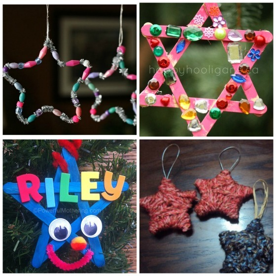Star ornaments for kids to make
