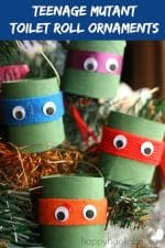 Teenage Mutant Ninja Turtle Ornaments – With Toilet Paper Rolls!