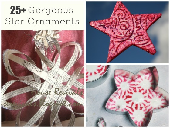star ornaments for the christmas tree