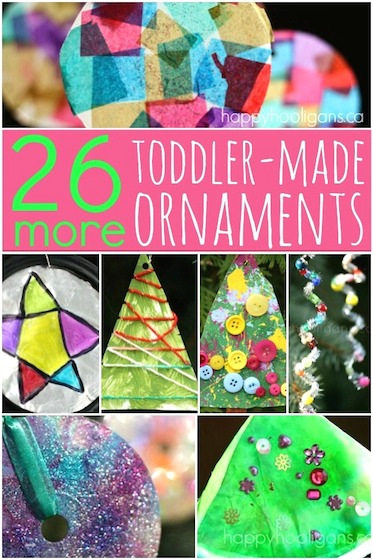 more toddler made Christmas ornament ideas