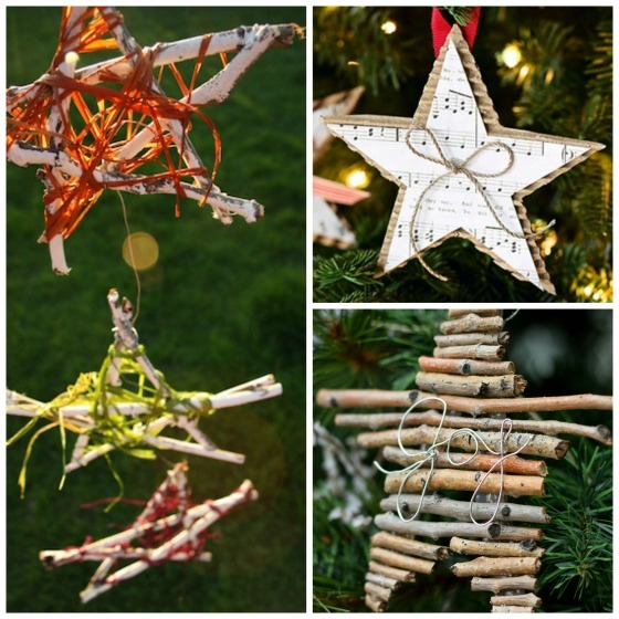 natural star ornaments