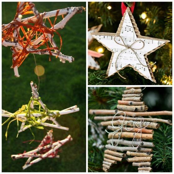 natural star ornaments