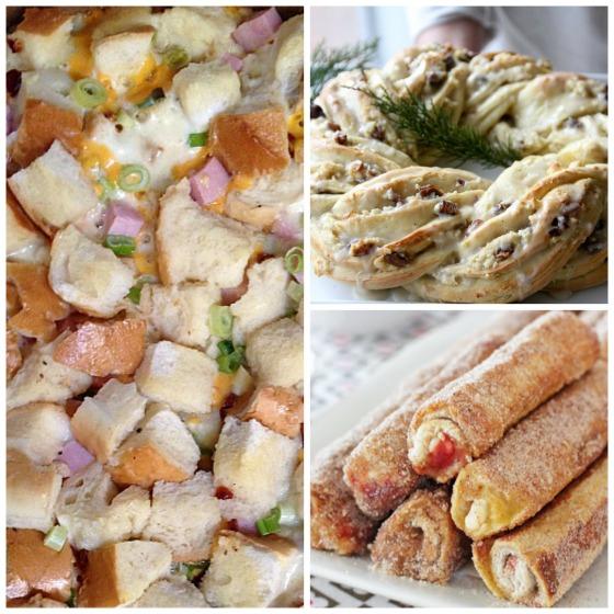 overnight breakfast casserole - holiday breakfast wreath - breakfast roll ups