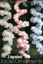 Crystallized Icicle Ornaments – Making Ice Crystals with Borax and Pipe Cleaners