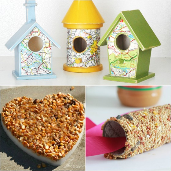 32 easy homemade bird feeders happy hooligans for How to make homemade bird houses