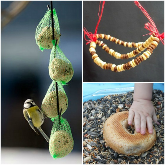 3 homemade birdfeeders for toddlers to make