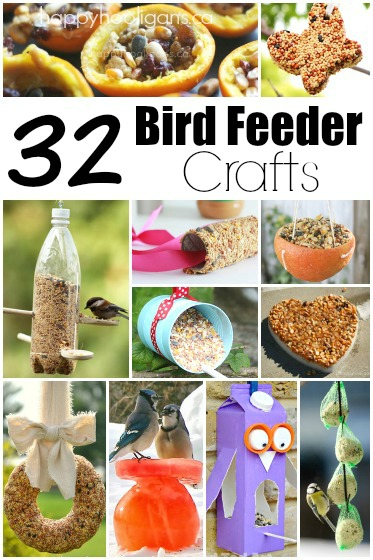 32 Homemade Bird Feeders To Make With Kids This Winter