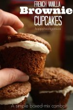 French Vanilla Brownie Cupcakes – Using 2 Boxed Mixes