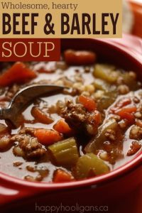 Homemade Thick and Hearty Beef and Barley Soup Recipe - Happy Hooligans