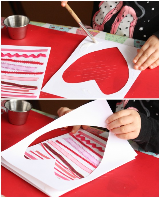 Ribbon Scraps Valentines Cards